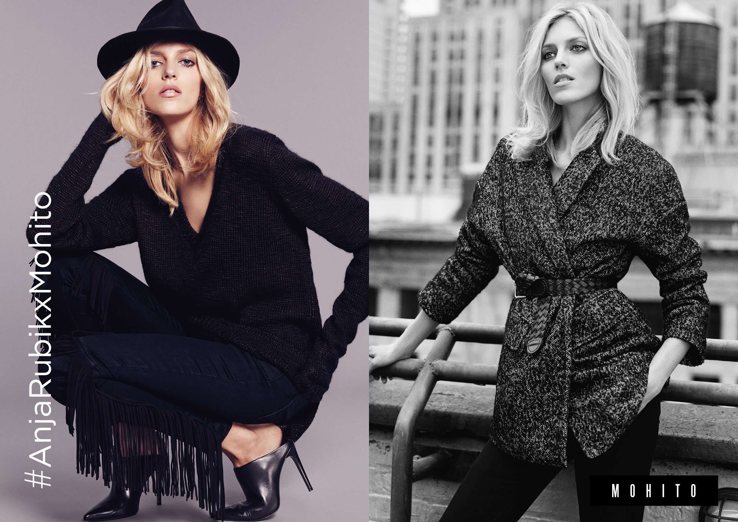 Anja Rubik for Mohito Collection photo