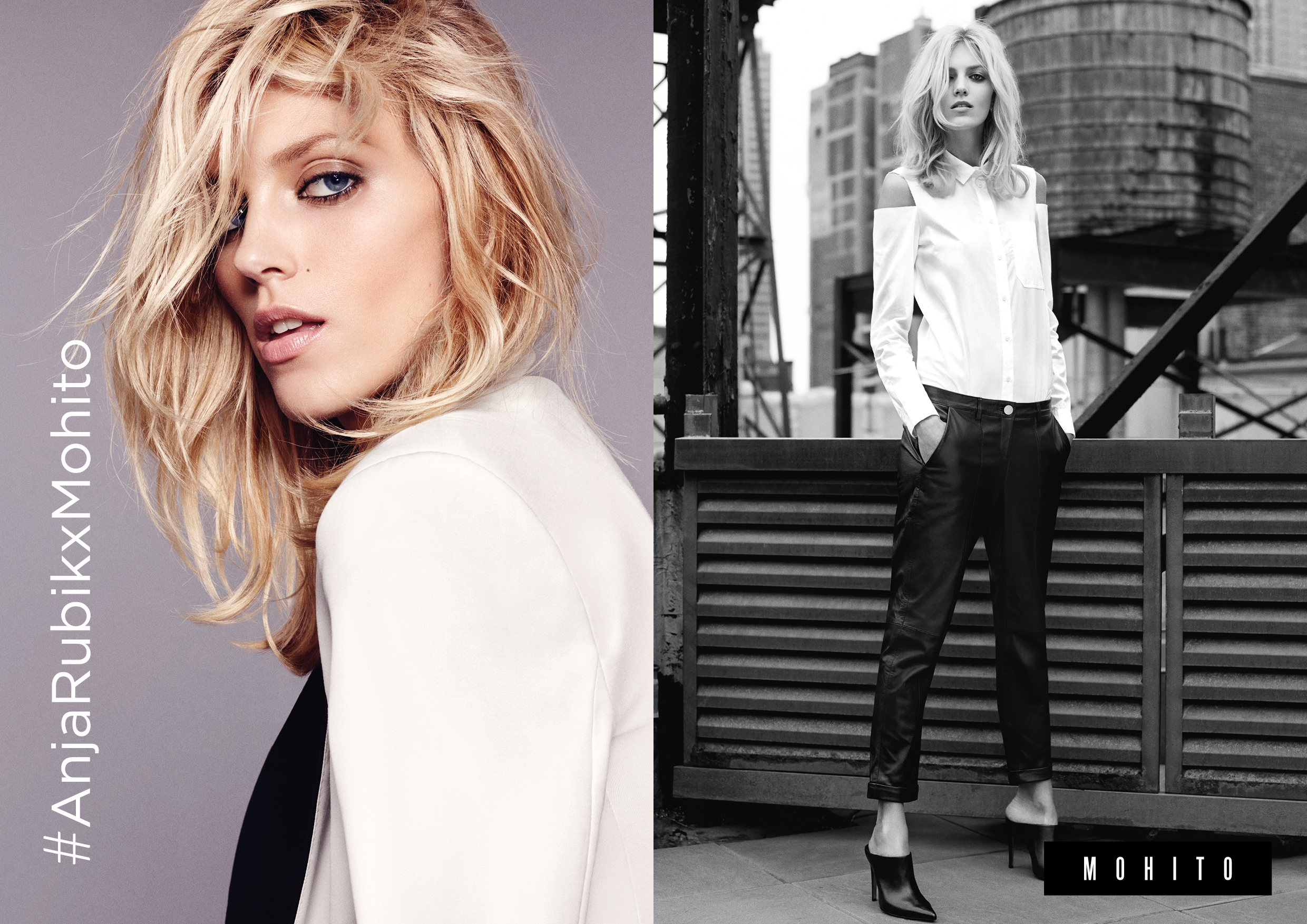 images Anja Rubik for Mohito Collection