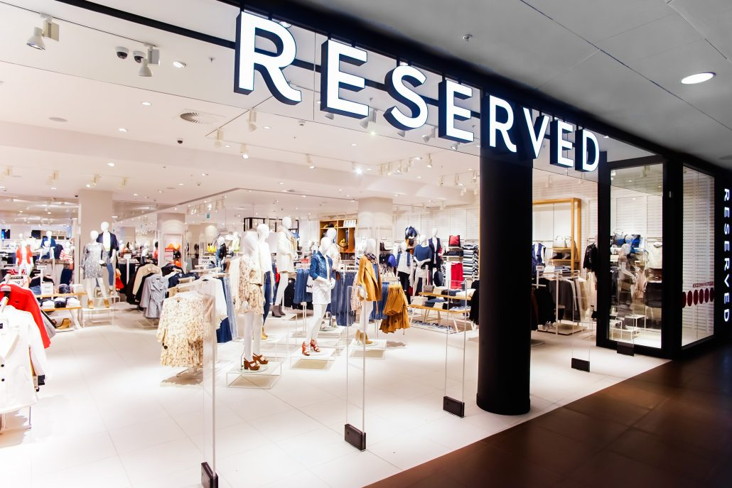 3 Reserved Flagship store in St. Petersburg SC Galeria